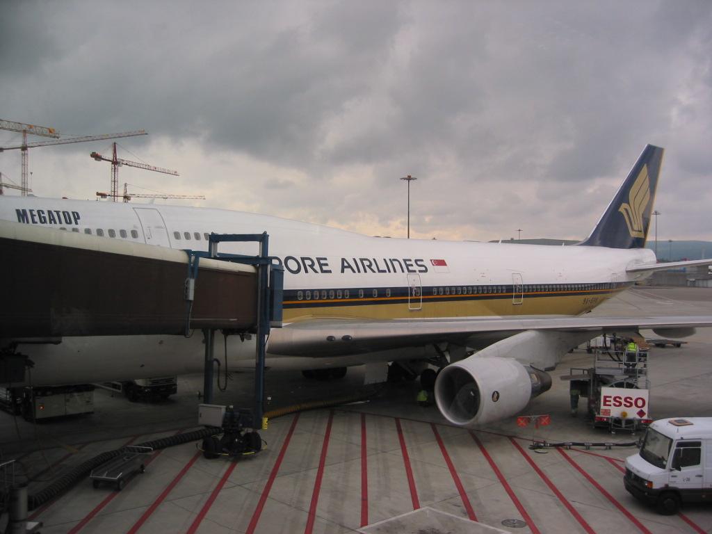 Flug ueberstanden und in Singapore angekommen