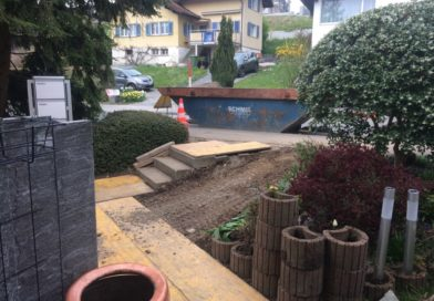 Taufe, Gartenumbau und Temperaturschwankungen